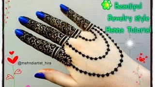Beautiful Henna Mehndi Jewellery : Download easy and simple for brides party mehndi designs