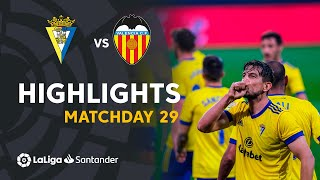 Highlights Cádiz CF vs Valencia CF (2-1)