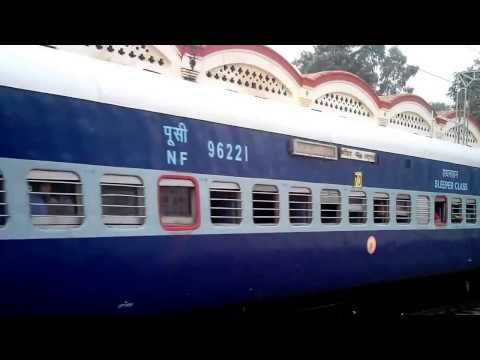 15707 Katihar Amritsar Amrapali Express Crossing at Jalandhar Cantt Railway Station