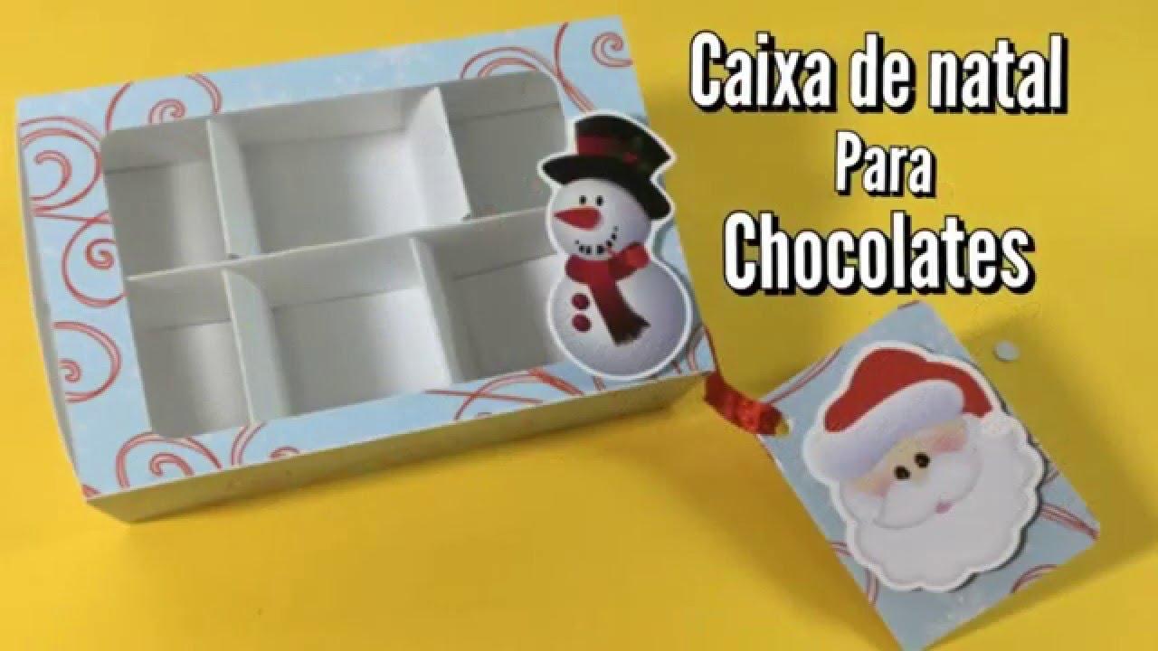 Diy Como Fazer Caixa De Natal Para Chocolate Youtube