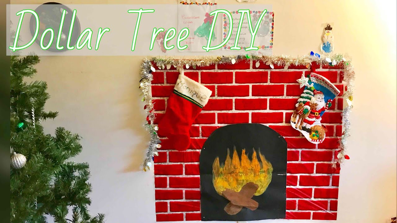 Dollar Tree Diy Faux Fireplace For Small Apartment