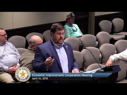 Economic Improvement Corporation Meeting - April 16, 2018