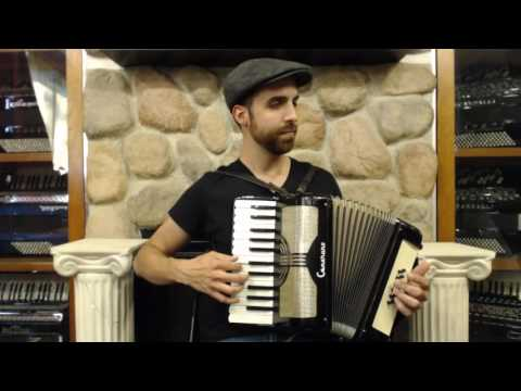 How to Play 12 Bass Piano Accordion  Lesson 1  One Chord Song in C Major  Row Row Row Your Boat
