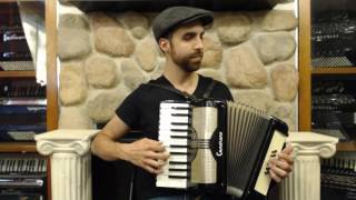 How to Play 12 Bass Piano Accordion - Lesson 1 - One Chord Song in C Major - Row Row Row Your Boat