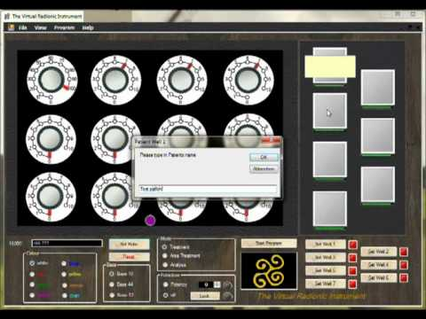 Set a Rate on the Virtual Radionic Instrument