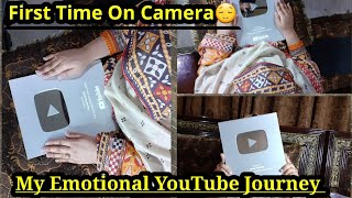 My YouTube Emotional Journey😌SILVER PLAY BUTTON UNBOXING🥳Is Youtuber Ny Bht Sth Dya|Ah Glam Gurll