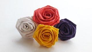 How to Make Paper Rose (DIY Paper Craft/কাগজের গোলাপ)