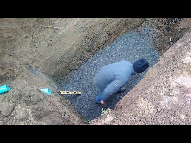 Lit de pose d'une fosse toutes eaux GRAF 3000 Litres