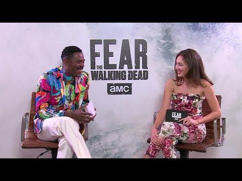 Fear The Walking Dead S4: AMC Brasil Facebook Live  Alycia DebnamCarey & Colman Domingo