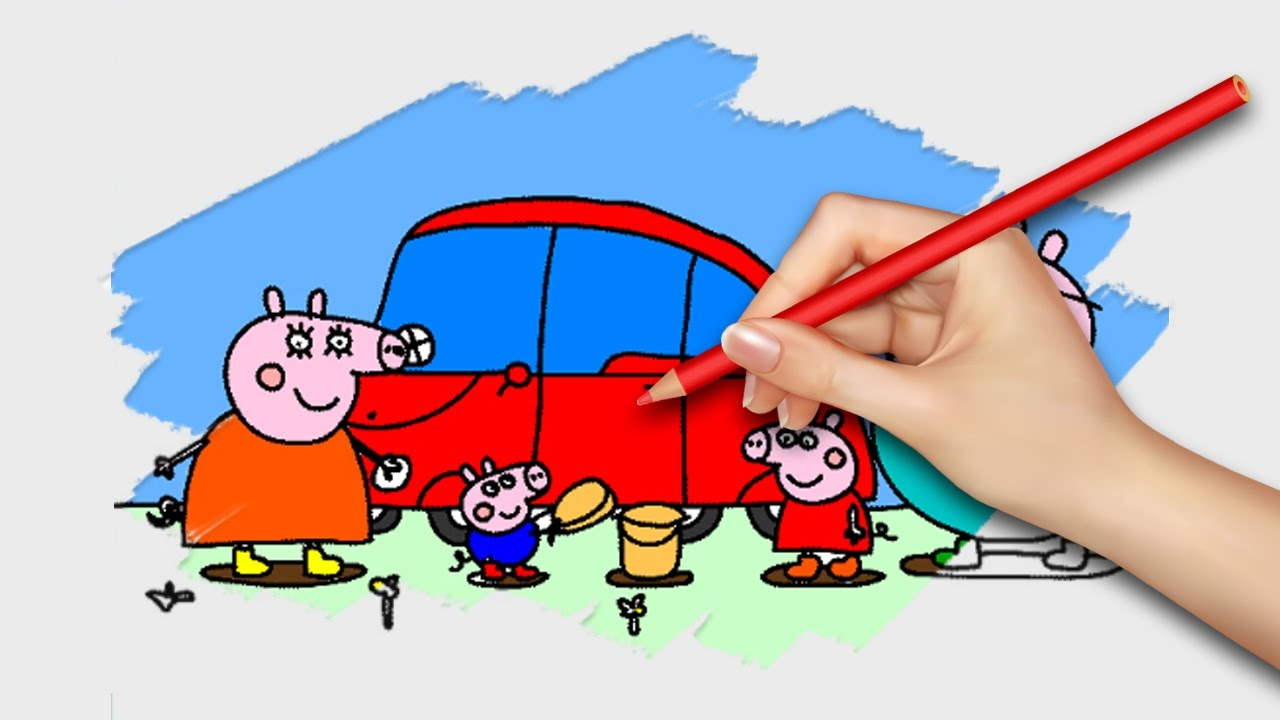 NEW! Peppa Pig Coloring Pages for Kids Coloring Games Part 28 - Coloring Book