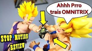 GOHAN Super Saiyan VS GOKU Ssj Stop Motion Review S.H.Figuarts. EPIC Action Video DibujAme Un Film