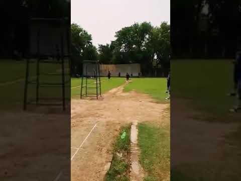 Zeeshan Ahmad Khan bowling