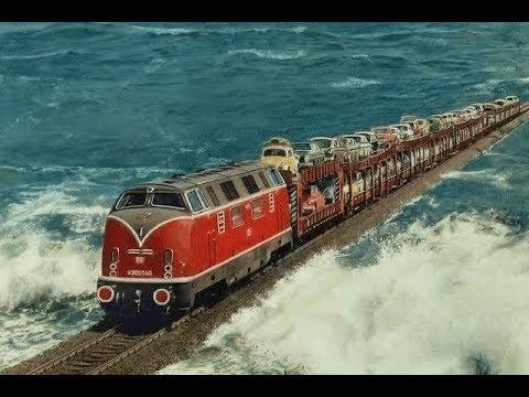 史上最壯觀的鐵路:建在海中,火車還可以在大海裏跑?