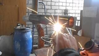 Как варить потолочный шов газосваркой(Сварка потолочного шва ацетиленом., 2015-11-28T06:33:43.000Z)