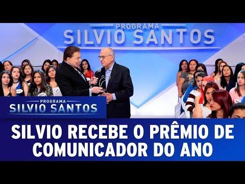 Silvio Santos ganha o prêmio de comunicador do ano | Programa Silvio Santos (15/10/17)