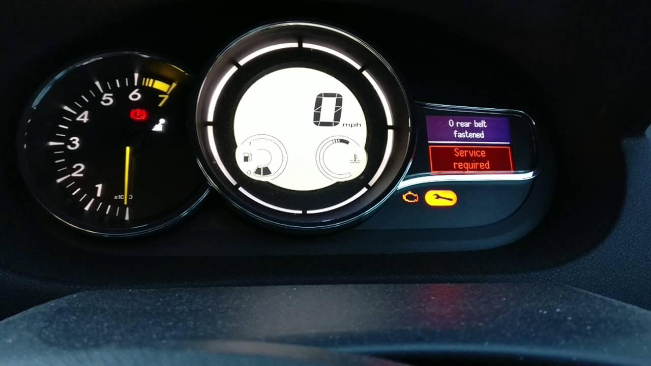 Renault megane mk3 service reset
