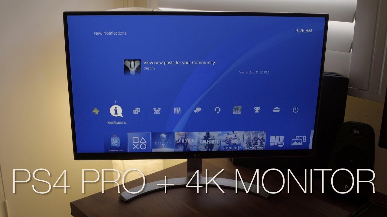best 4k monitor for ps4 pro youtube. Black Bedroom Furniture Sets. Home Design Ideas