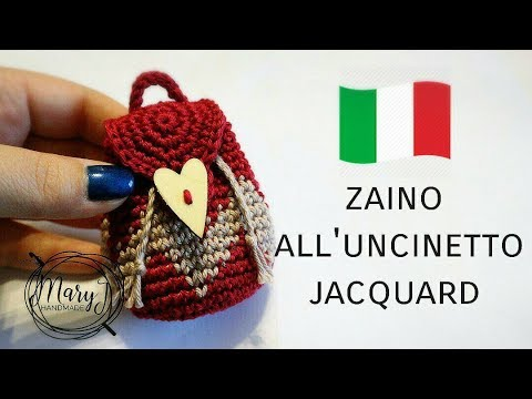 Mini zaino all'uncinetto jacquard/ tapestry | MARYJ HANDMADE