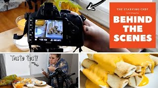 The Starving Chef BEHIND THE SCENES | Inside the Life of a Food Blogger