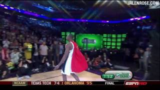 Dwight Howard 12-Foot Rim Phone Booth Dunk in HD! - Jalen Rose Comments