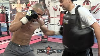 CHRIS EUBANK JR'S FULL BOXING WORKOUT FOR JAMES DEGALE AS HE HIGHLIGHTS HIS SPEED, POWER & TECHNIQUE