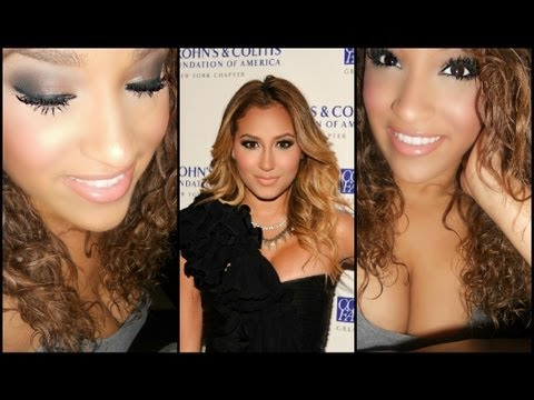 Adrienne Bailon Inspired Makeup Using Urban Decay's Smoked Palette