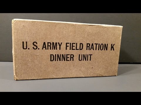 1943 US Army Field Ration K Dinner Unit WW2 MRE Review Oldest Eaten & Cigarette Smoked Taste Test
