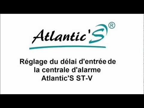 r glage du d lai d 39 entr e alarme atlantic 39 s st v youtube. Black Bedroom Furniture Sets. Home Design Ideas