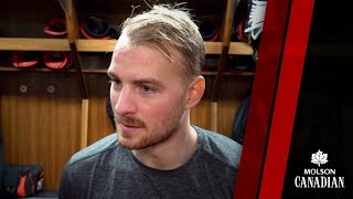 Mikkel Boedker talks about his line-mates, White and Duchene, as th...