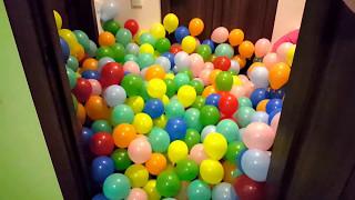 Много воздушных шаров полная квартира шариков Balloons