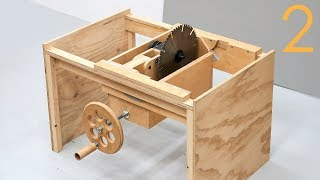 Making A Table Saw - The Tilt Trunnions And Hand Wheel