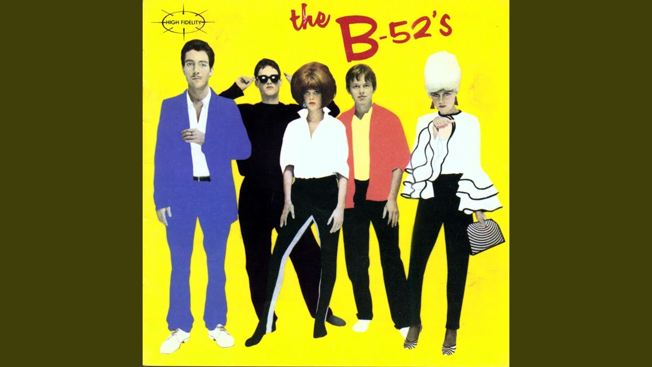 The B-52s Yellow T-Shirt /'1st album design/' rock lobster punk new wave