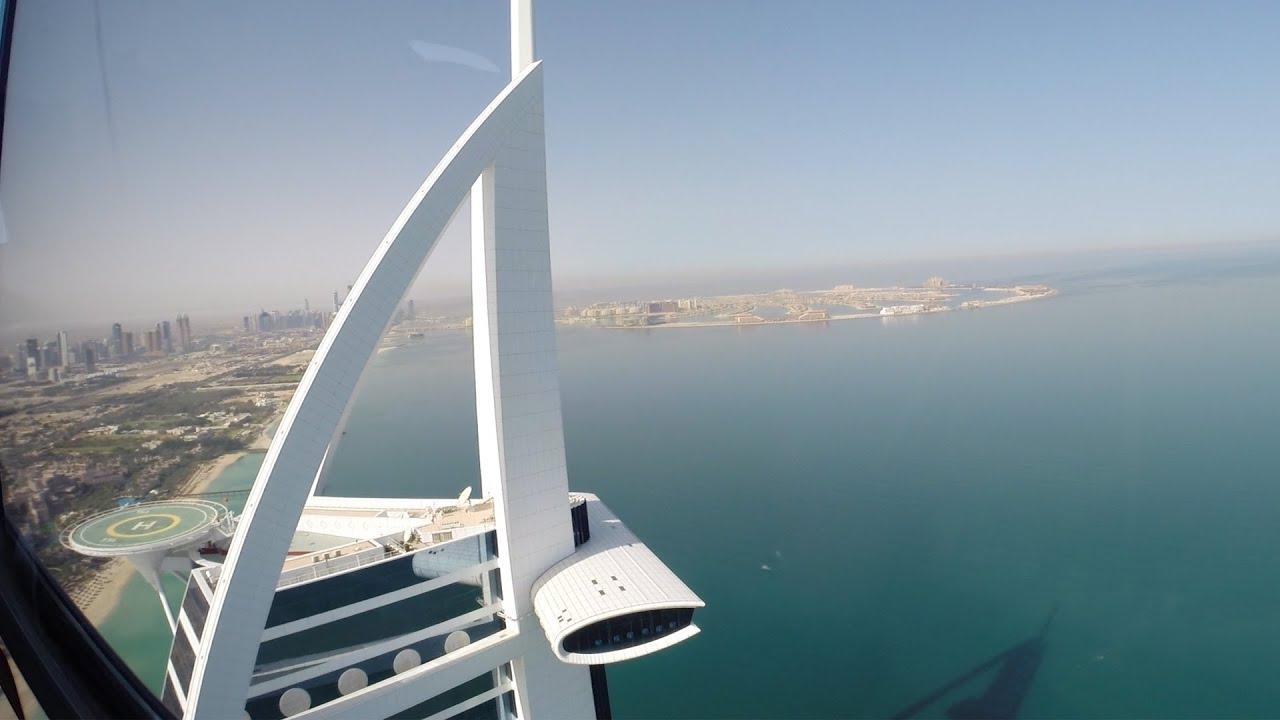 Burj Al Arab Helicopter Landing Youtube