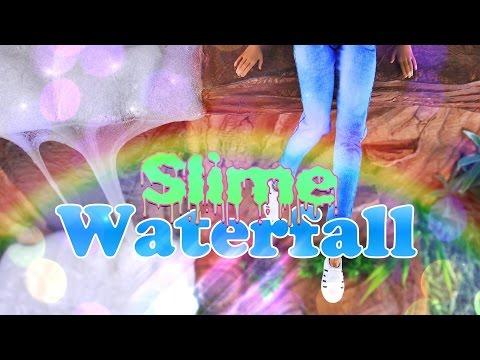 diy---how-to-make:-doll-slime-waterfall-plus-|-borax-slime-recipe---handmade-doll-crafts---4k