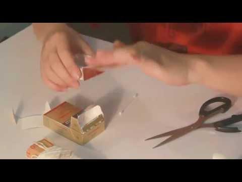 Đồ chơi trẻ em : xe đổ ben làm từ vỏ bao thuốc