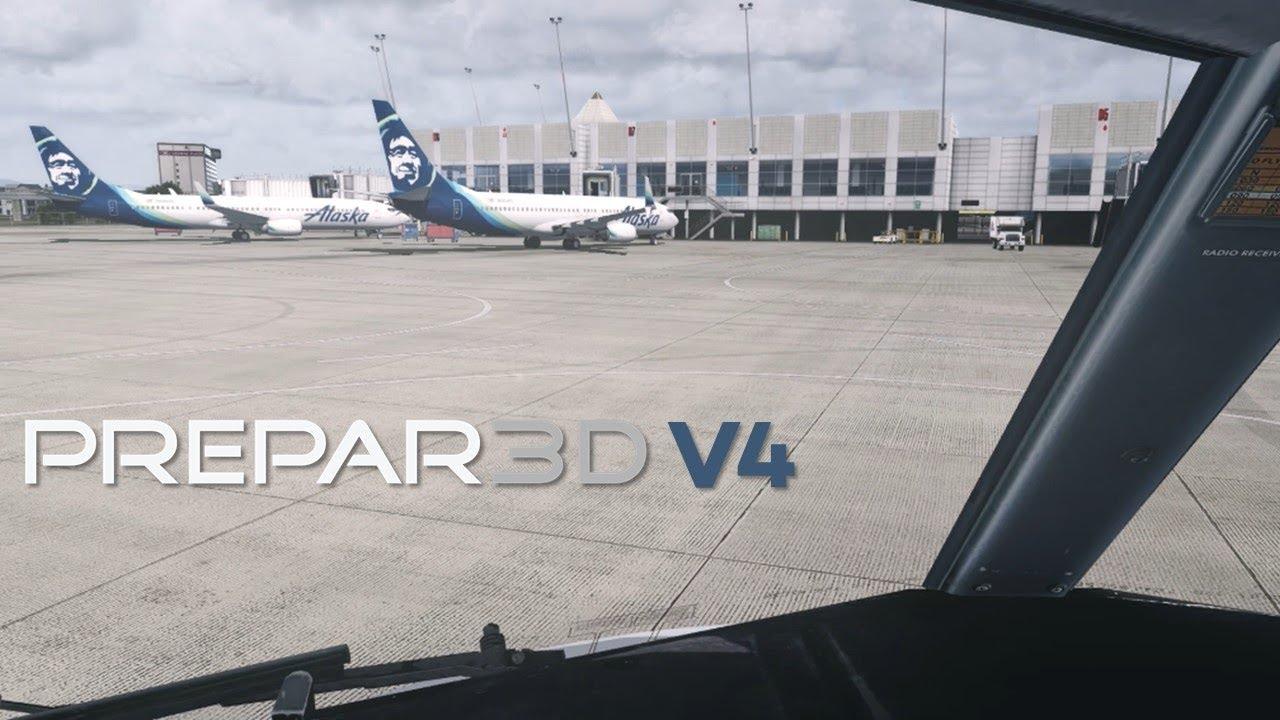 [Prepar3d v4] Beautiful Scenery 737 Landing in Seattle KSEA