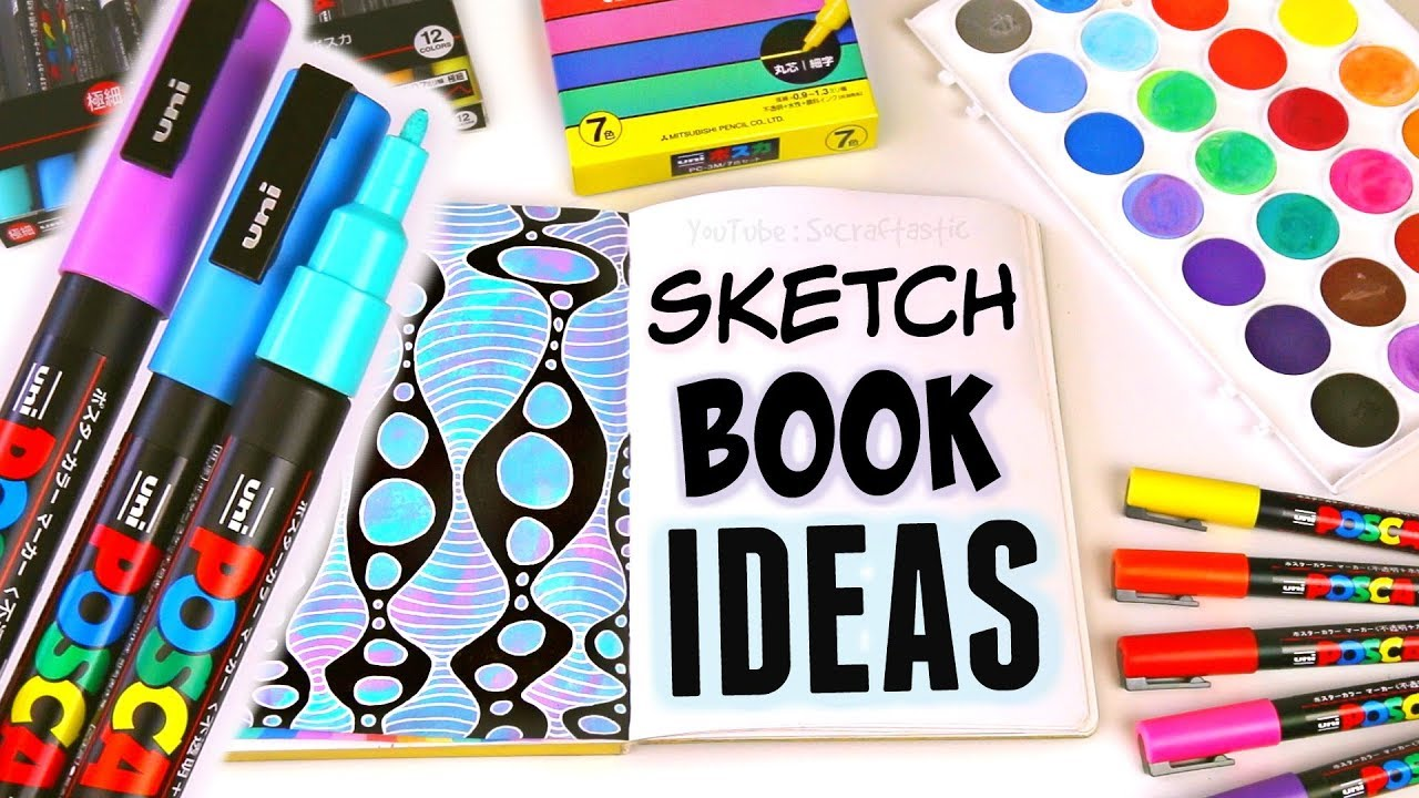 Sketchbook Ideas With Posca Paint Pens Youtube