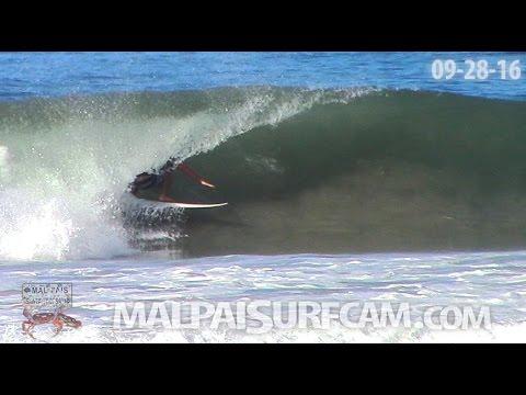 Surfing, www malpaisurfcam com 09 28 16 Santa Teresa Mal Pais Costa Rica