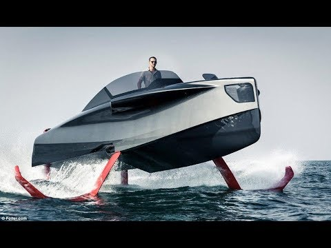 incredible 'flying superyacht' that can carry up to eight passengers above the waves