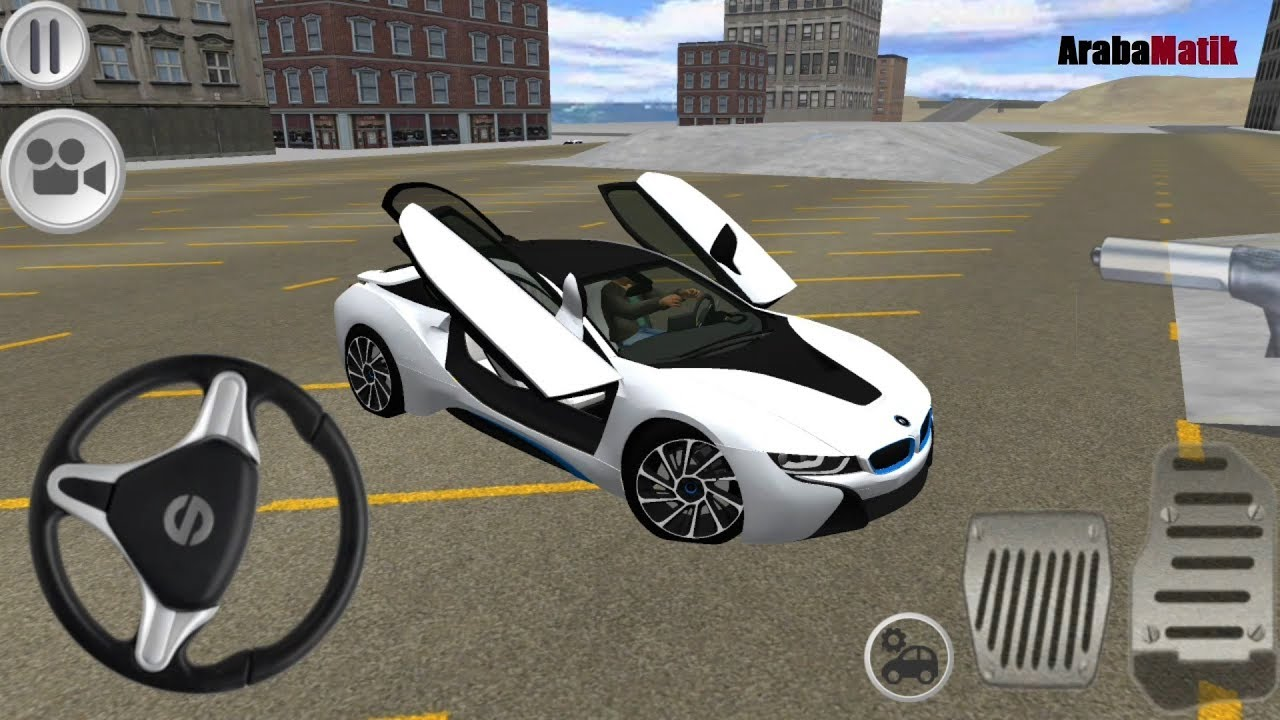 Direksiyonlu Bmw I8 Surus Simulatoru Oyunu I8 Driving Simulator