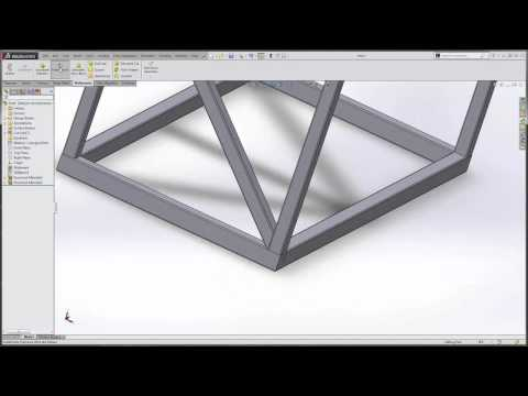 SOLIDWORKS - Designing a Structural Skid - YouTube