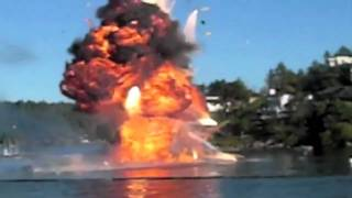 Boat Explodes: LOOK OUT BELOW!