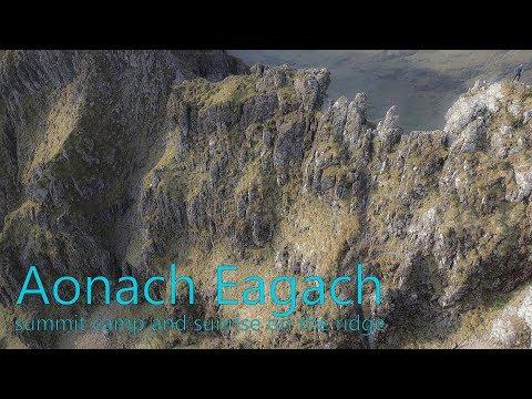 Camp and Scramble on Aonach Eagach