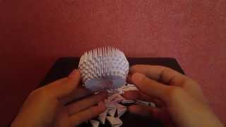 Модульное Оригами радужный лебедь 2 часть