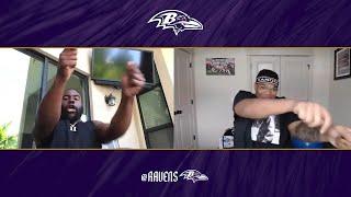 Watch Mark Ingram and Orlando Brown Jr.'s Big Reactions to Schedule Reveal | Baltimore Ravens