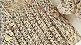 Latest Knitting Tutorial of 2019/Sweater Design with Chain Stich Look/Kids Knitting Video:Design-292