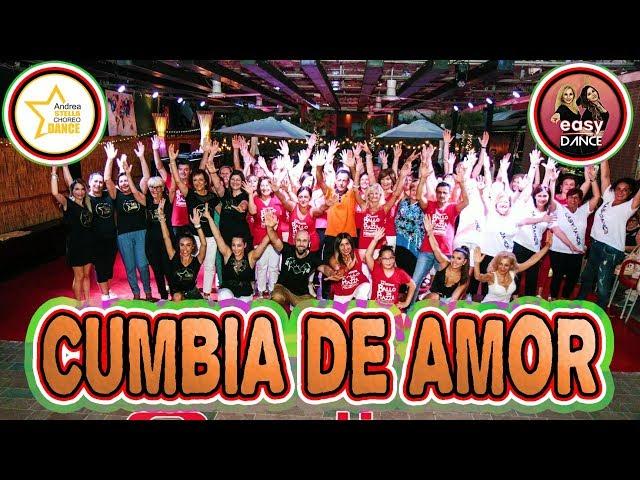 CUMBIA DE AMOR || COREOGRAFIA + TUTORIAL || Andrea Stella ft. Easy Dance