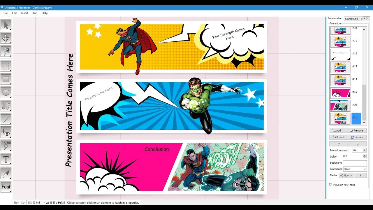 Comic strip template youtube for Comic book template powerpoint