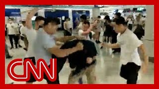 Gang attacks riders on Hong Kong subway