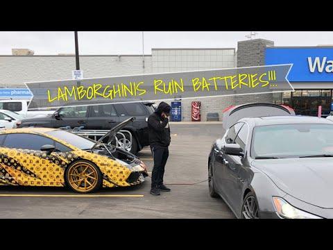 How to replace a LAMBORGHINI battery Lambo_Dadd style!